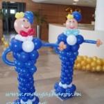 оформление юбилея шарами