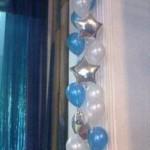 оформление актового зала шарами
