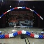 оформление шарами на 9 мая