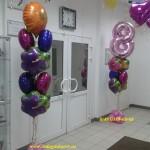 оформление воздушными шарами на 8 марта