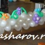 украшение актового зала шарами