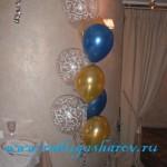оформление шарами на юбилей