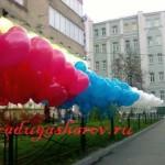 оформление улицы шарами