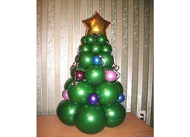 Воздушная елка из шаров своими руками