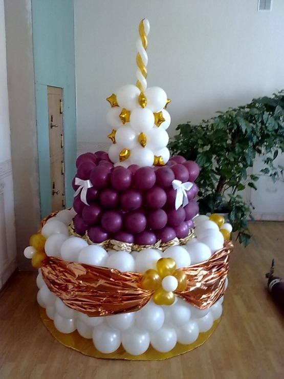Как сделать из шариков торт 631