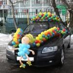 украшение автомобиля шарами