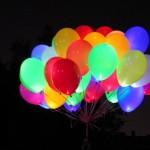 светящееся облако шаров